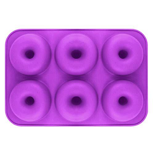 Silikonform 6 Even Donut DIY Gebäckform Schokoladenkuchen Backform5 Farben Optional
