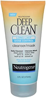 Neutrogena Deep Clean Long-Last Shine Control, Cleanser/mask, 6 Ounce (Pack of 2)