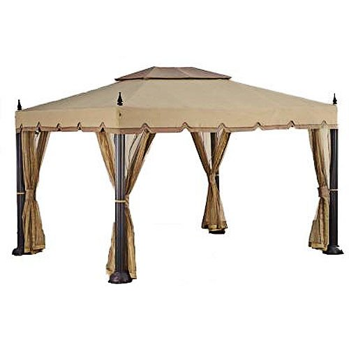 Garden Winds Replacement Canopy Top Cover for Home Depot's Mediterra Gazebo (10'x12)