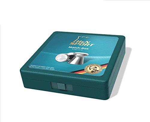 H&N Matchbox für Diabolo / Luftgewehrkugeln (Petrol)