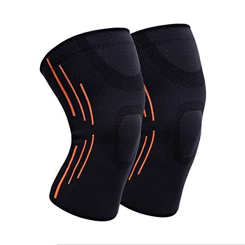 Schutzbekleidung 2ST Knieorthese Komprimierung Hülse Knie-Schutz for Laufen, Rad fahren, Joint Schmerzlinderung, ACL, Arthritis & Verletzungen Erholung JFCUICAN ( Color : Schwarz , Size : M )