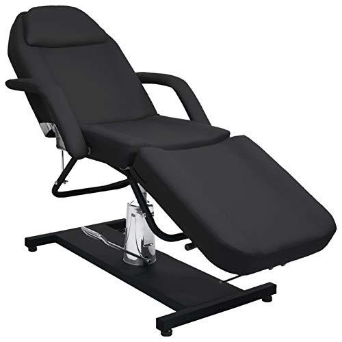 Galapara Folding Beauty Bed Massage Table Massageliege, Spa Massagetisch Schwarz 180x62x(87-112) cm