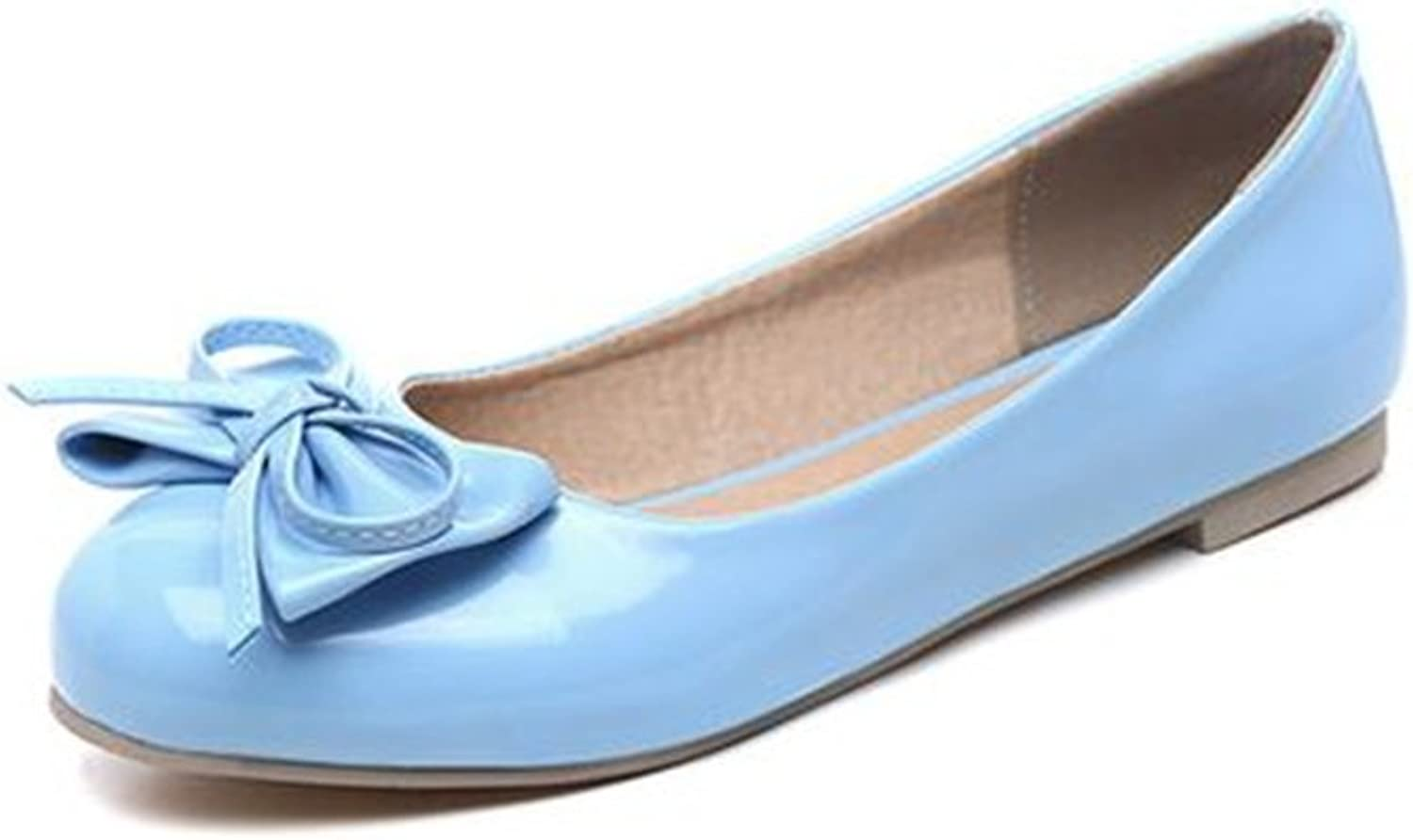 Women's Fashion Pointed Toe Flats Ankle Strap Classic Bowknot Flat