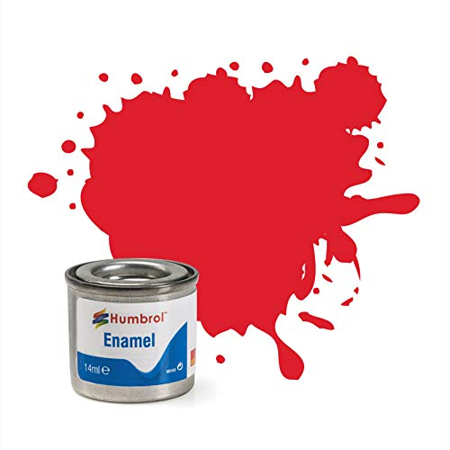 Humbrol 14 ML Nr. 1 TINLET Emaille Paint 19 (Bright Red Gloss)