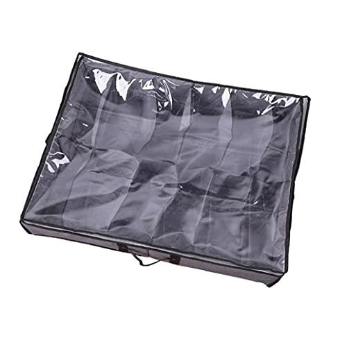 Passar 10 par totalt – säng skoförvaring organisatör-undersäng förvaringslösning grå