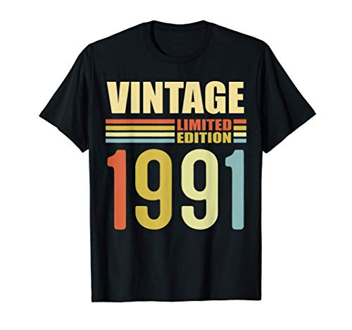 30 Year Old Gifts Vintage 1991 Limited Edition 30th Birthday Camiseta