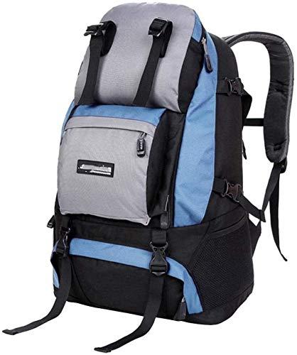 tgbnh Mochila, Senderismo Mochila Mochila Unisex Resistente al Agua Viajes Camping montañismo Caminar Grande Capacidad al Aire Libre montañismo Bolsa 45l (Color : Light Blue)