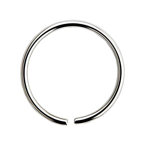 20 Gauge (0.8MM) - 9MM Diameter 316L Surgical Steel Seamless Continuous Hoop Nose Ring Piercing