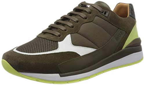 BOSS Herren Element_Runn_ltmx2 Sneaker, Grün (Open Green 343), 43 EU
