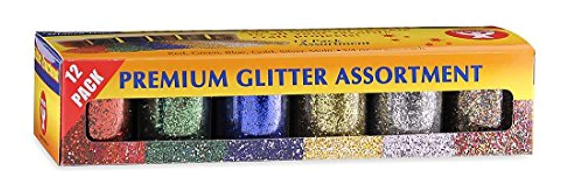 Hygloss Products Shiny Glitter for Slime, Arts & Crafts, Assorted Colors, 3/4 oz, 12 Bottles