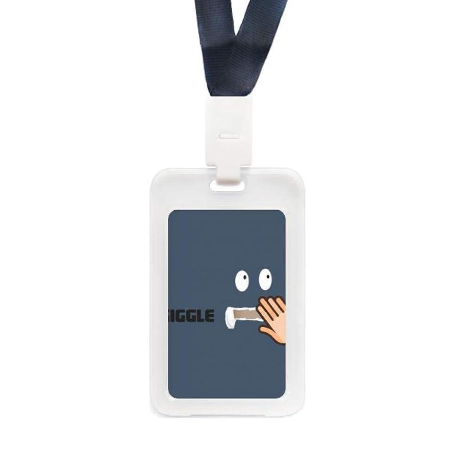 腐食する温室活性化するギググルハンドカバー 透明IDクレジットカードホルダー