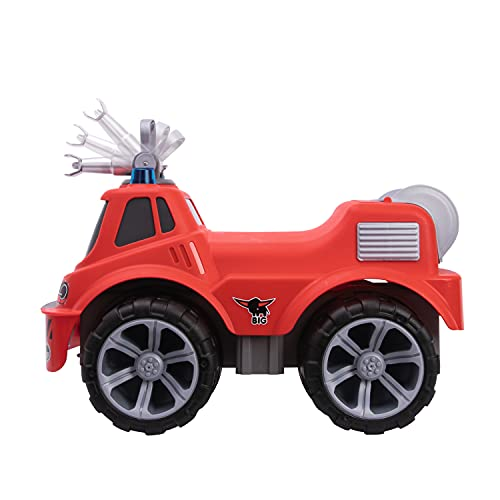 BIG-Power-Worker Maxi Firetruck, großes Spielzeug Auto mit Wasserspritze, Reifen aus Softmaterial, rot, für Kinder ab 2 Jahren