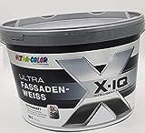 Ultra Color X-IQ Fassadenfarbe Weiß Silikonharz Abperleffekt Extramatt 10 L