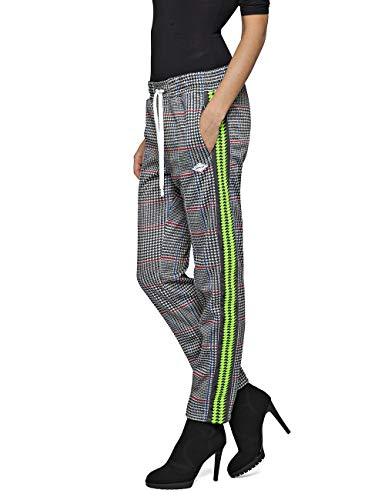 Replay Damen W8798C.000.71862 Hose, Mehrfarbig (Grey/Blk/Blue/Red Checked 010), W(Herstellergröße: M)