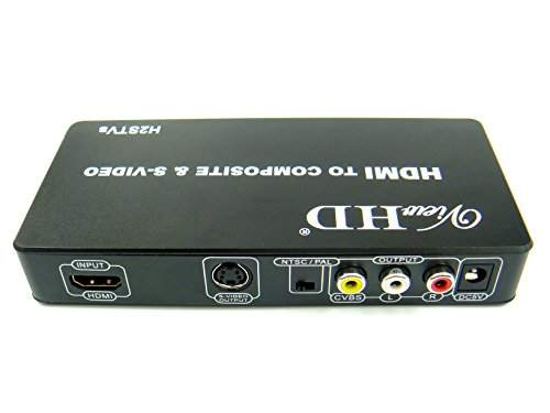 ViewHD HDMI to TV Composite RCA AV + S Video Converter | Include AV & S Video Cables + AC Power Adapter | Model: H2STVs