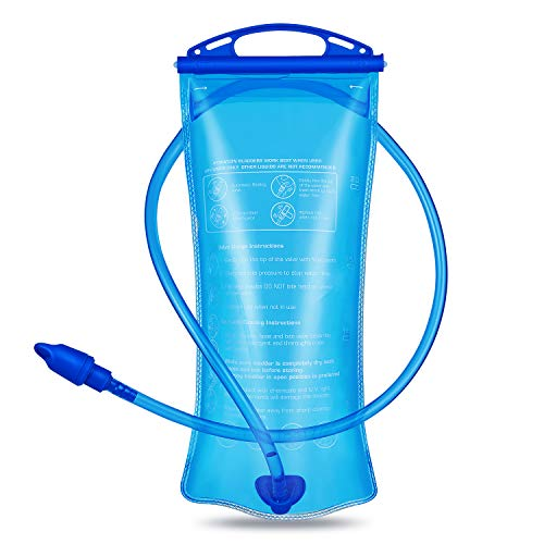Keethem Bolsa de hidratación de 2 L, Mochila de hidratación de Ciclismo, depósito de Agua, Bolsa de hidratación para Senderismo, Correr, Acampar, Escalada, Ciclismo