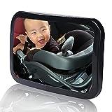 Specchietto per seggiolino auto di sicurezza per bambini, specchietto retrovisore per bambini, neonato rivolto all'indietro, ampia visuale cristallina, acrilico infrangibile, crash test