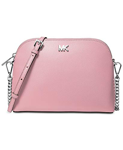 Michael Michael Kors Large Zip Dome Crossbody Handbags (Pale Lilac/Silver)