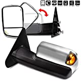 AUTOMUTO Towing Mirrors Left and Right Side Tow Mirrors Power Adjusted Heated LED Turn Signal Light Chrome Housing Fit Compatible with 2002-2008 Dodge Ram 1500 2003-2008 Dodge Ram 2500 3500
