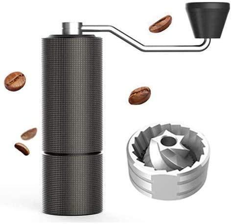 JoinBuy.R Kaffeemühle mit Doppellager-Positionierung, Schwarz