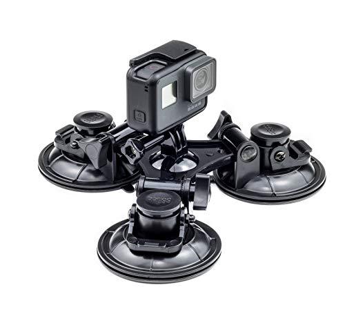 Digicharge TripCup 3X Triple Ventosa con Cabeza de Bola Ventosa, Compatible con Camara de Accion GoPro Hero Akaso Crosstour Campark Fitfort Garmin VIRB Apeman Sony Camkong Motorola Kitvision Nikon