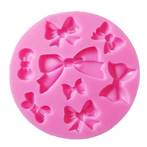 QYTSTORE Muchos Mini Herramientas de decoración de Pastel de Boda de Chocolate Bowknot, Tamaño: 8.5 cm * 8.5 cm, DIY Hornear Soft Candy Molde de Silicona Hermoso y Duradero