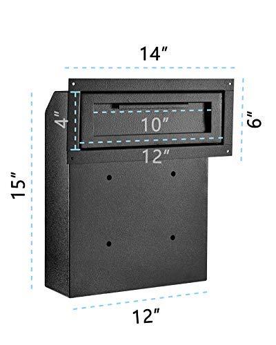 AdirOffice AdirOffice Door Drop Box - Through-The-Door Safe Locking Drop Box - Door Mail Slot (Black) Photo #3