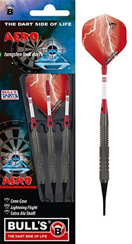 BULL'S Aero Soft Dart 16g, Schwarz