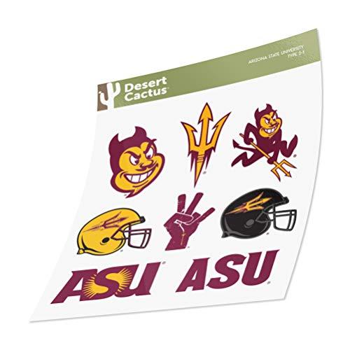 Arizona State University Sticker Vinyl Decal Laptop Water Bottle Car Scrapbook (Type 2)