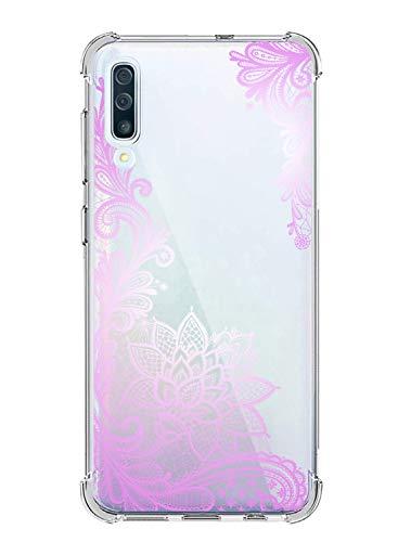 Suhctup Coque Comaptible avec Samsung Galaxy J2 Pro/J250 Étui Houssee,Transparent Motif Fleur [Antichoc Protection des Coins] Crystal Souple Silicone TPU Bumper Case Cover pour Galaxy J2 Pro/J250,A9