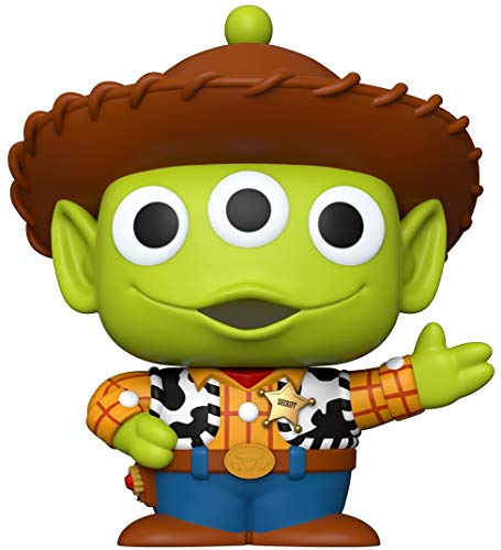 Funko- Pop Disney Pixar Alien Remix Anniversary 10\  Woody Juguete Coleccionable, Multicolor (48344)