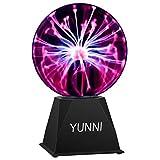 Plasma Ball, YUNNI 6' Inch Plasma Globe Lamp with Touch & Sound Sensitive, Electric Nebula Sphere Light, Magic Gift