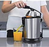 ZJDM Exprimidor Exprimidor Eléctrico de Limón Naranja de Acero Inoxidable Exprimidor de Frutas de 160W Jugo Fresco Hogar