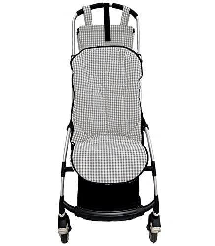 Colchoneta o funda para silla carrito Bugaboo Bee. Vichy (Gris)