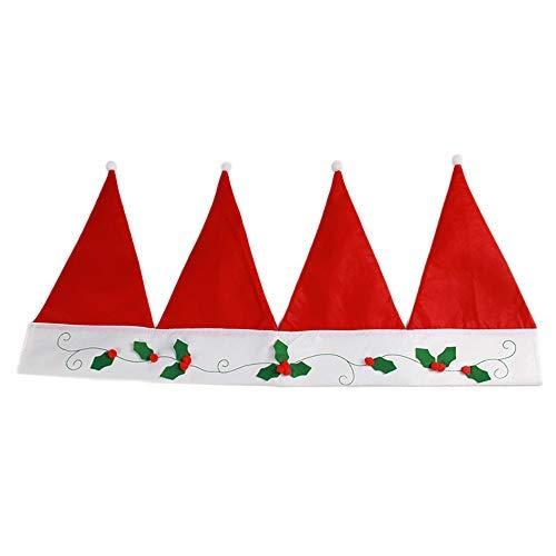 Littlefall Red Santa Claus Hats Window Valance Christmas Curtain Decoration Ornaments 90cm
