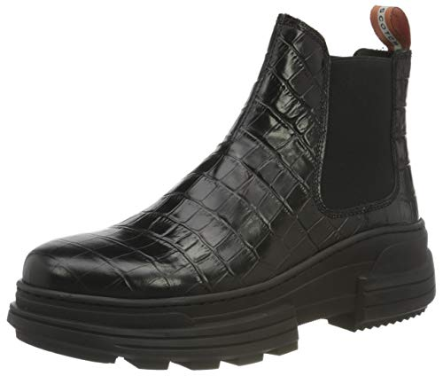 SCOTCH & SODA FOOTWEAR Damen CARA Mode-Stiefel, Black, 38 EU