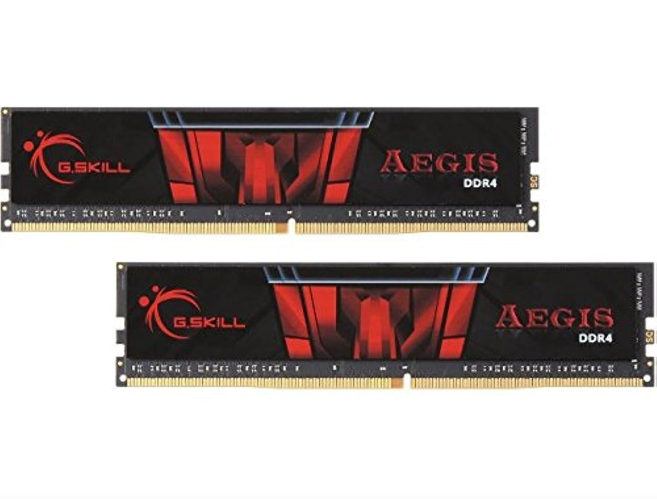 G.SKILL 8GB (2 x 4GB) Aegis DDR4 PC4-19200 2400MHz for Intel X299 / Z270 / Z170 / X99 Platform Desktop Memory Model F4-2400C17D-8GIS