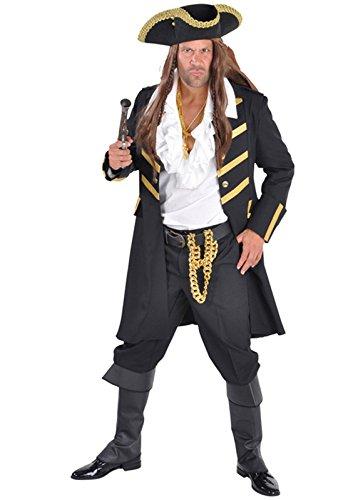 Sconosciuto Deluxe–Nero/Oro–Appendiabiti Pirata Barbanera/Jack Sparrow Black Large