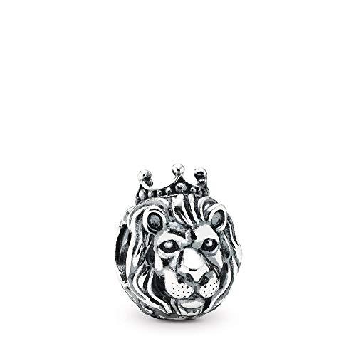 DIAN Jewellery - Ciondolo a forma di re leone della giungla in argento Sterling 925, compatibile con ciondoli europei, braccialetti Pandora,Biagi, Troll e Chamilia