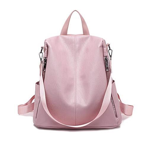 Dwthh Patchwork Anti Thef Rucksack für Student Book Bag Damen Leder Rucksack Damen Large Capacity...