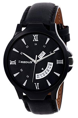Redux Analogue Day Date Functioning Men's & Boy's Watch (Black)
