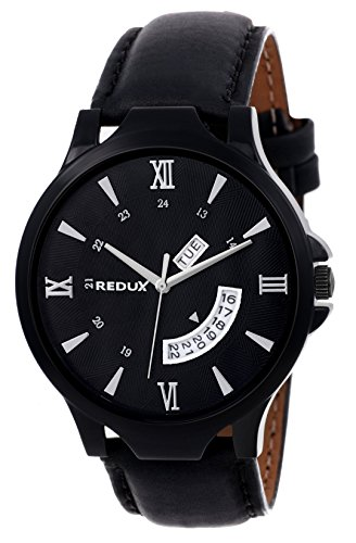Redux Analogue Day Date Functioning Men's & Boy's Watch (Black)