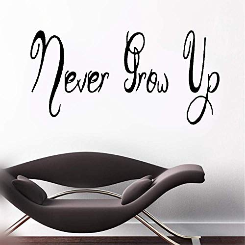 stickers muraux bebe juju et compagnie Never Grow Up For Nursery Kids Room Boys Girls Room Home Decor
