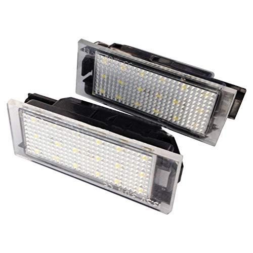 12V LED-Kennzeichenleuchte, 2-teilige LED-Kfz-Kennzeichenleuchte für Renault Clio Espace Twingo Megane Laguna 3W, 6000K