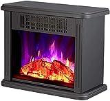 Freestanding Chimenea eléctrica, con efecto realista LED Efecto de llama Estufa de calefacción Hogar de calentador instantáneo, protección contra sobrecalentamiento, anti-escaldado del cuerpo.