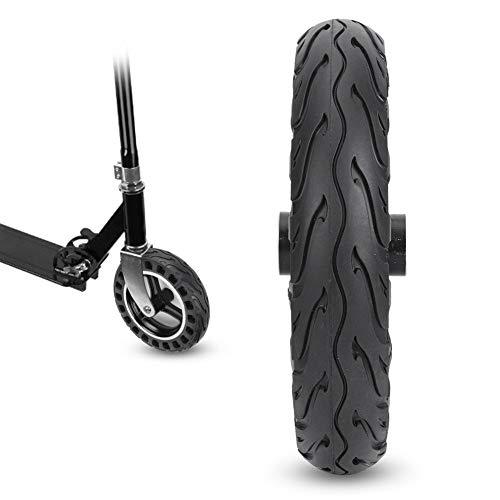 Suchinm Elektroroller-Reifen, 10 Zoll Full Core Advanced Noise Reduction-Reifen Symmetrische Figur Gummi-Elektroroller-Reifen ohne Gas für austauschbare Teile