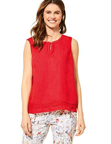 Cecil Damen 341887 Bluse, Sizzling Coral red, Small