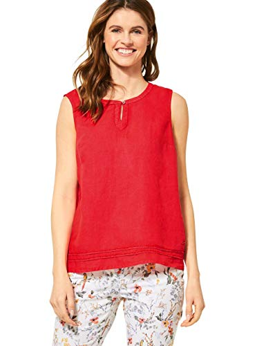 Cecil Damen 341887 Bluse, Sizzling Coral red, X-Large
