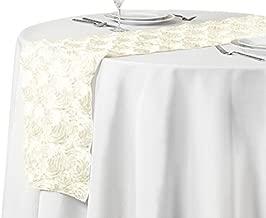 LinenTablecloth Rosette Satin Runner 108 Inch
