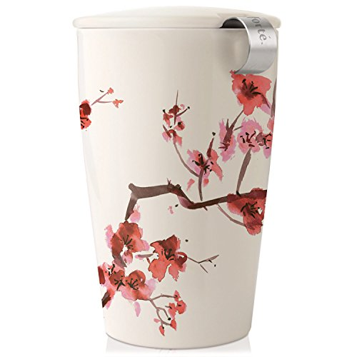 Tea forté 3910255 Kati Cup Keramikbecher Kirschblütenzweig